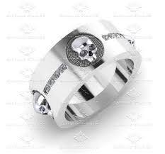mens skull wedding rings men s skull diamond ring de saturno mens 0 40ct diamond