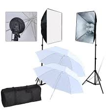 Photography Lighting Kit Pro 1600w Photo Lighting Kit Studio Softbox Umbrella Light Set
