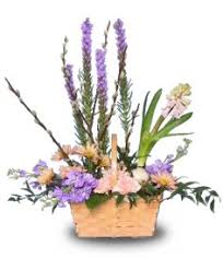 fragrance garden basket of flowers spring flowers flower shop