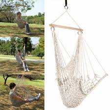 Hanging Patio Chair by Adults Cotton Rope Net Outdoor Swing Seat Hanging Patio Garden Chair