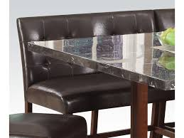 Granite Top Dining Room Table Beautiful Image Of Dining Room Decoration Using Tufted Dark Brown