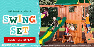 Best Backyard Swing Sets by Shopyourway Com Best Backyard Swing Set Instant Win Game