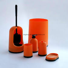 Orange Bathrooms China Bathroom Set Sbs10 Orange China Bathroom Set Soap