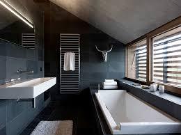 black tile bathroom ideas black and white theme for minimalist bathroom ideas homesfeed