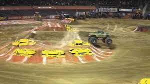 monster jam oakland california m2d camo thunder truck freestyle 2