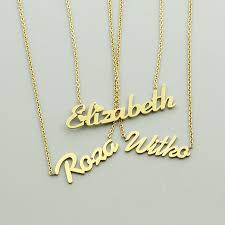 gold necklace with name in cursive online shop gold silver color personalized custom name