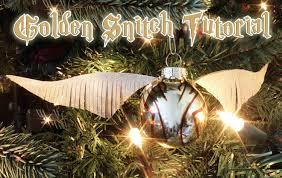 tutorial golden snitch tree ornament