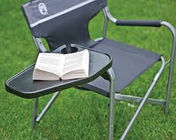 Lawn Chair With Table Attached Amazon Com Coleman Aluminum Deck Chair Camping Chairs Sports