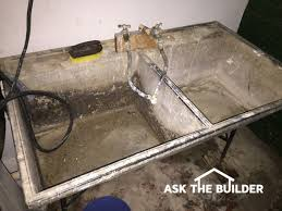 Concrete Bathtub Mold Concrete Laundry Tub Ask The Builderask The Builder