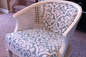 Recovering An Armchair Remodelaholic Cane Chair Reupholster Diy