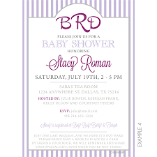 Example Of Invitation Card Monogram Baby Shower Invitation Kateogroup