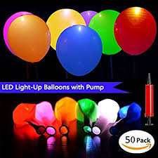 led light up balloons 30 pack mixed colors flash