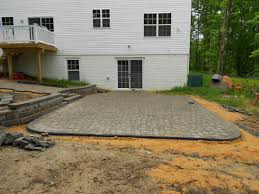brick paver patio walkway and retaining wall landscaping