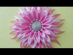 satin ribbon flowers diy crafts how to make beautiful kanzashi satin ribbon flower