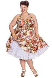 hell bunny kaila tropical palm tree rockabilly plus size dress
