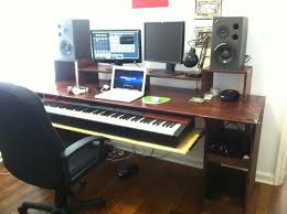 Music Studio Desk by Another Angle Of My Music Studio Desk That My Friend And I Built