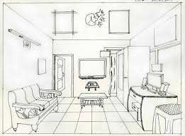interior sketches interior design bedroom sketches one point perspective www