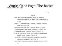 works cited page example mla works cited page formatting guide to