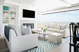 chevron rug living room open beach cottage living room cottage living room