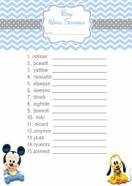 bridal wedding word baby shower games for girls word search
