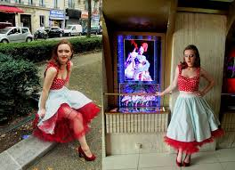 francesca cassidy lindy bop net petticoat new look polkadot