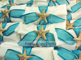 beachy wedding favors blue starfish wedding favors precious and pretty design