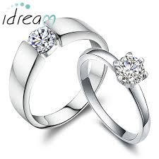 Wedding Rings Sets His And Hers by Cz Cubic Zirconia Diamond Couple Promise Ring For Men