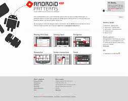 android pattern library u2013 unitid u2013 interaction designers