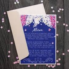 asking of honor poem asking bridesmaid bridesmaid ask card asking bridesmaids