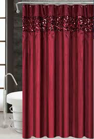 Maroon Curtains Curtain Creates A Glittering Atmosphere For Your Bathroom With