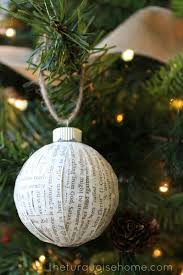 diy paper covered ornament make great decorations