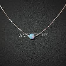 opal necklace silver images Box chain opal necklace 925 sterling silver synthetic opal pendant jpg
