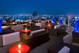 blue martini restaurant blue sky rooftop restaurant at centara grand lad prao bangkok