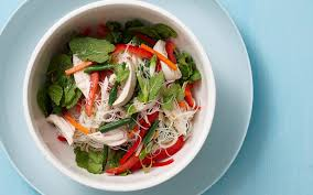 warm thai chicken and vermicelli noodle salad recipe food to love