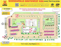 Great Mall Store Map Jordan Minnesota Campground Minneapolis Southwest Koa