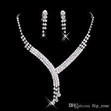 cheap bridal jewelry crystal rhinestones bride prom wedding