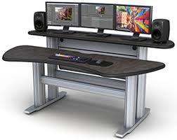 2 level computer desk st2 bl smarttrac 2 bay bi level console tbc consoles inc