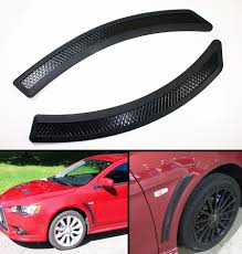 evo 10 evo 10 style convertion matt black fender side vent cover for