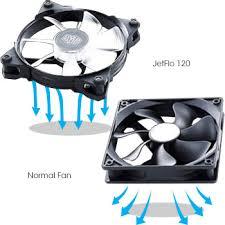 high cfm case fan amazon com cooler master jetflo 120 pom bearing 120mm high