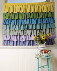 Turquoise Ruffle Curtains How To Sew Ruffled Curtains Threads