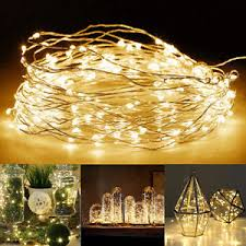 100 leds battery operated mini led copper wire string lights