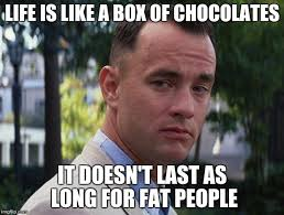 Life Is Like A Box Of Chocolates Meme - life is like a box of chocolates imgflip