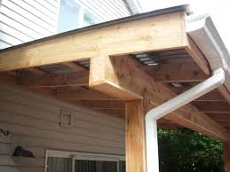 corrugated patio cover cedar wrapped post and beam u2013 deck masters