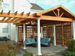 Pergola Covering Ideas by Exterior How To Cover Your Deck With Wooden Pergola Covers For