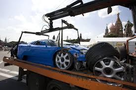 bugatti eb 110 crash at 2009 bavaria moscow city racing event