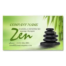 Massage Therapy Business Cards Tranquil Zen Spa Massage Therapist Design Business Card Templates