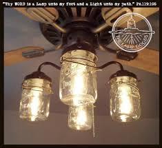 Ceiling Light Kit Jar Ceiling Fan Light Kit With Vintage Pints The L Goods