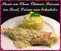 cuisine chinoise poisson purée au chou chinois poisson bardé de lard et crème d echalote