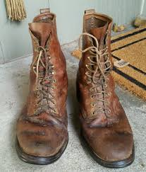 s fall boots size 12 vintage sheboygan brown leather packer style work boots