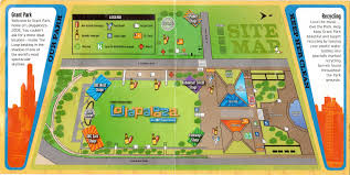 Grant Park Map Chicago by Lollapalooza 2005 Map And Schedule Glorious Noise